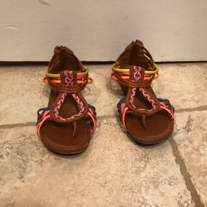 Fun sandals for young girl